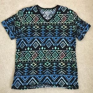 On The Byas, pattern tee, large